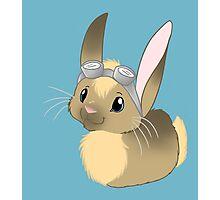 Goggle Bunny Photographic Print