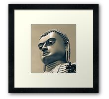 Buddha on top of Golden Temple of Dambulla Framed Print