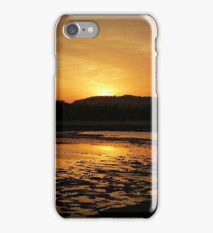 Sunset at Minneriya National Park Sri Lanka iPhone Case/Skin