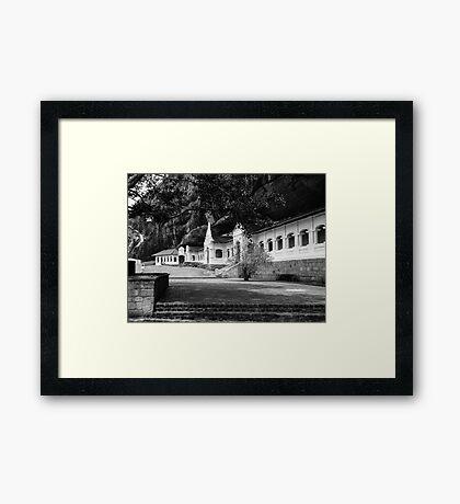 The Royal Rock Temple complex location Dambulla Framed Print