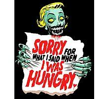 Sorry Zombie Photographic Print