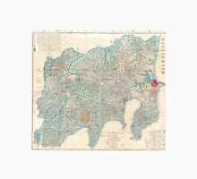 Vintage Map of Tokyo and Mt. Fuji Japan (1843) Unisex T-Shirt