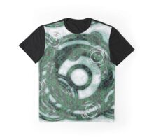Abstract Rings - Green Graphic T-Shirt