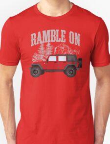 RAMBLE ON (red) Unisex T-Shirt