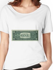 One U. S. Dollar Bill Reverse Women's Relaxed Fit T-Shirt