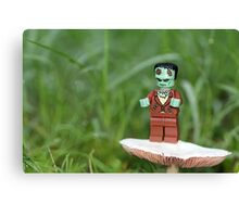 Frankenstein Grows Mushrooms, Too Canvas Print