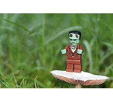 Frankenstein Grows Mushrooms, Too Photographic Print