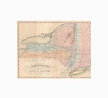 Vintage Agricultural Map of New York (1846) Unisex T-Shirt