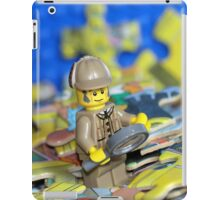 Sherlock Peacefully Pondering the Puzzle Pieces iPad Case/Skin