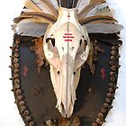 glory, pig skull mount assemblage by AnjiMarth