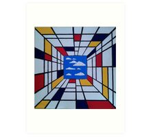 in the style of Mondrian - perfect for pillow Art Print