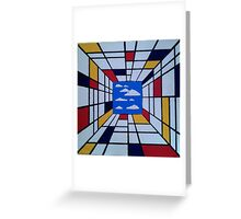 in the style of Mondrian - perfect for pillow Greeting Card