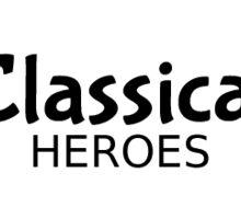 Classical Heroes Black on White Logo Sticker