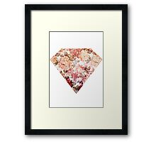 Floral Diamond Framed Print