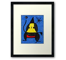 In the style of Miro - Dancing Framed Print