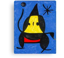 In the style of Miro - Dancing Canvas Print