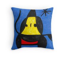 In the style of Miro - Dancing Throw Pillow