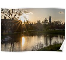 Miami University in the Golden Hour Poster