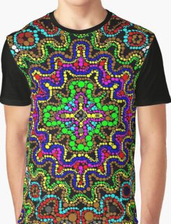 Florescent Beaded Aztec Pattern  Graphic T-Shirt