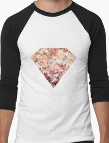 Floral Diamond Men's Baseball ¾ T-Shirt