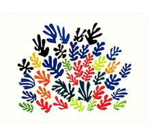 In the style of matisse flowers 1 Art Print