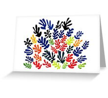 In the style of matisse flowers 1 Greeting Card