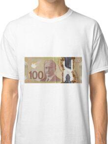 One Hundred Canadian Dollar Bill Classic T-Shirt