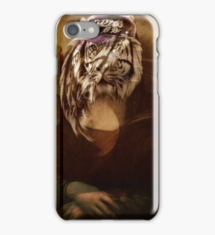 Mona on Steroids with digital lord. iPhone Case/Skin