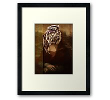 Mona on Steroids with digital lord. Framed Print
