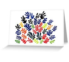 In the style of Matisse flowers 2 Greeting Card