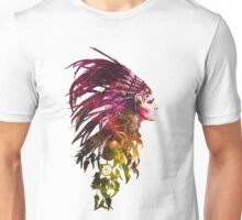 Colourful Headdress Space Unisex T-Shirt