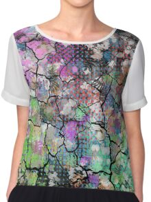 Earthy Cracked Colors Chiffon Top