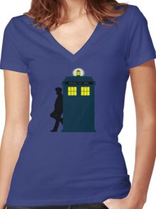 Who's Lonely Women's Fitted V-Neck T-Shirt