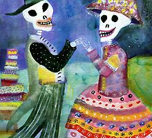 Katrin and Katrina - Day of the Dead by dayofthedeadart