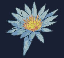 Light Blue Water Lily Kids Clothes