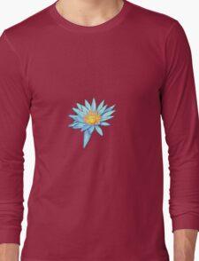 Light Blue Water Lily Long Sleeve T-Shirt
