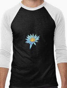 Light Blue Water Lily Men's Baseball ¾ T-Shirt