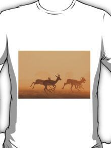 Springbok - African Wildlife Background - Golden Run T-Shirt