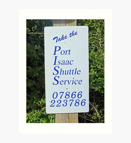 Taking the Port Issac Shuttle Service Art Print