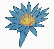 Bright Blue Water Lily Kids Tee