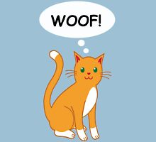 Cute Cat Woofing! Unisex T-Shirt