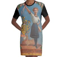 Old Poster - Sports Festival, Leipzig - Germany 1913 Graphic T-Shirt Dress