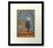 Old Poster - Sports Festival, Leipzig - Germany 1913 Framed Print