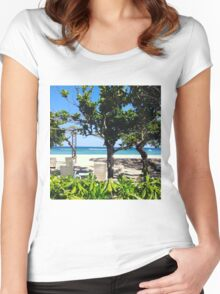 Beach Paradise Women's Fitted Scoop T-Shirt
