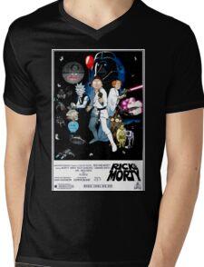 Rick and Morty Wars Mens V-Neck T-Shirt