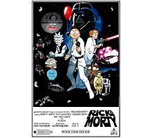 Rick and Morty Wars Photographic Print