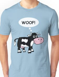 Cute Cow Woofing! Unisex T-Shirt