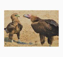 Lappet Faced Vulture and Bateleur Eagle Fight Kids Clothes