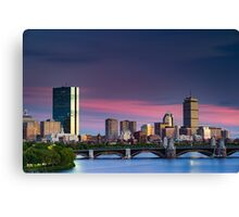 Purple Boston Sunset Canvas Print