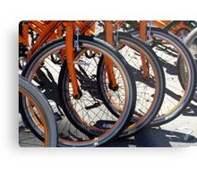 Bike Wheels Metal Print